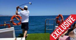 golf at sea on boat, estepona